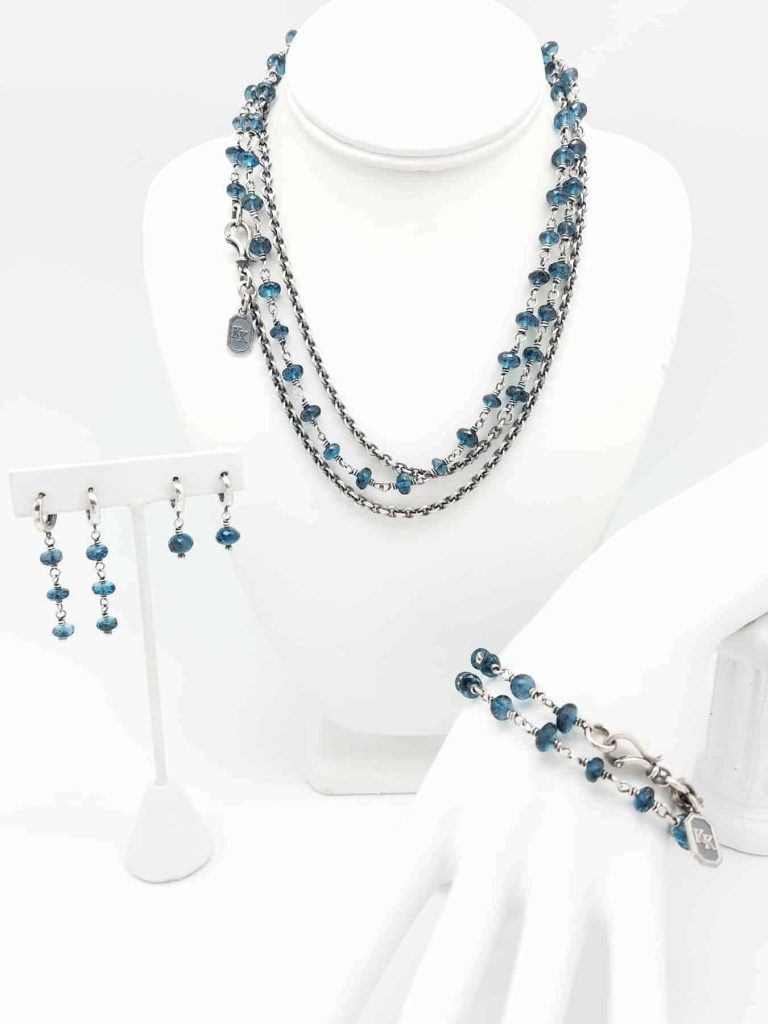 Necklace London Blue Topaz set