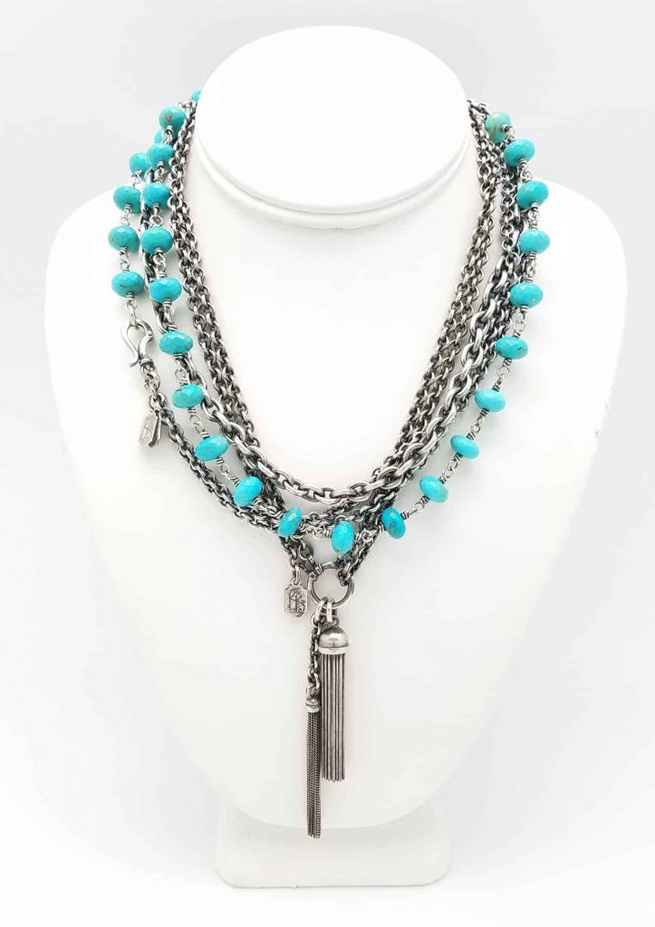 neck Turquoise w tassels