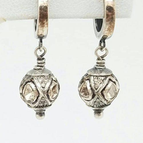 Essentials Collection Rose Cut Diamond Earrings by Kary Kjesbo
