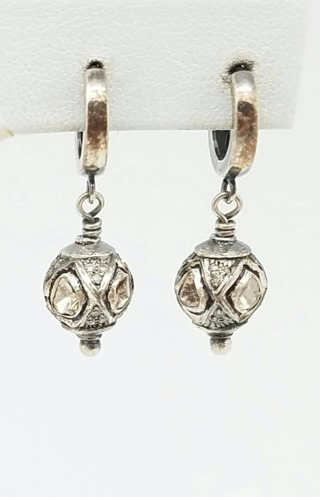 Essentials Collection Rose Cut Diamond Earrings by Kary Kjesbo