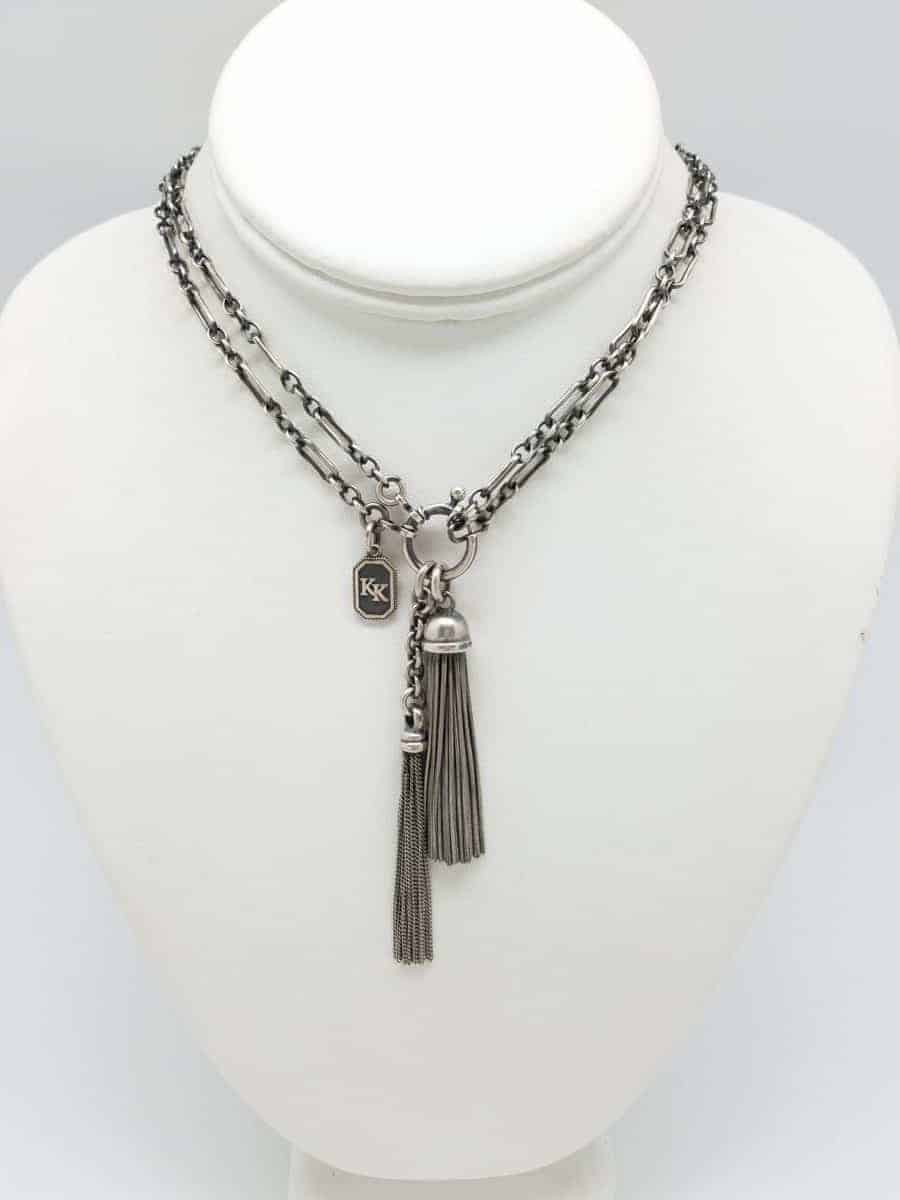 Kary Kjesbo Designs Essential Light Victorian tassel necklace (short)