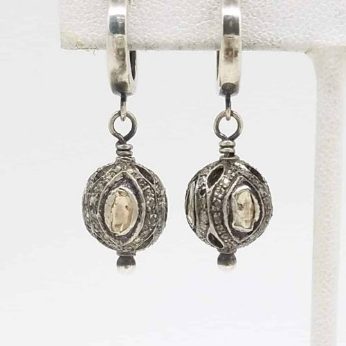Kary Kjesbo Designs Essential Rose cut diamond earrings 12mm