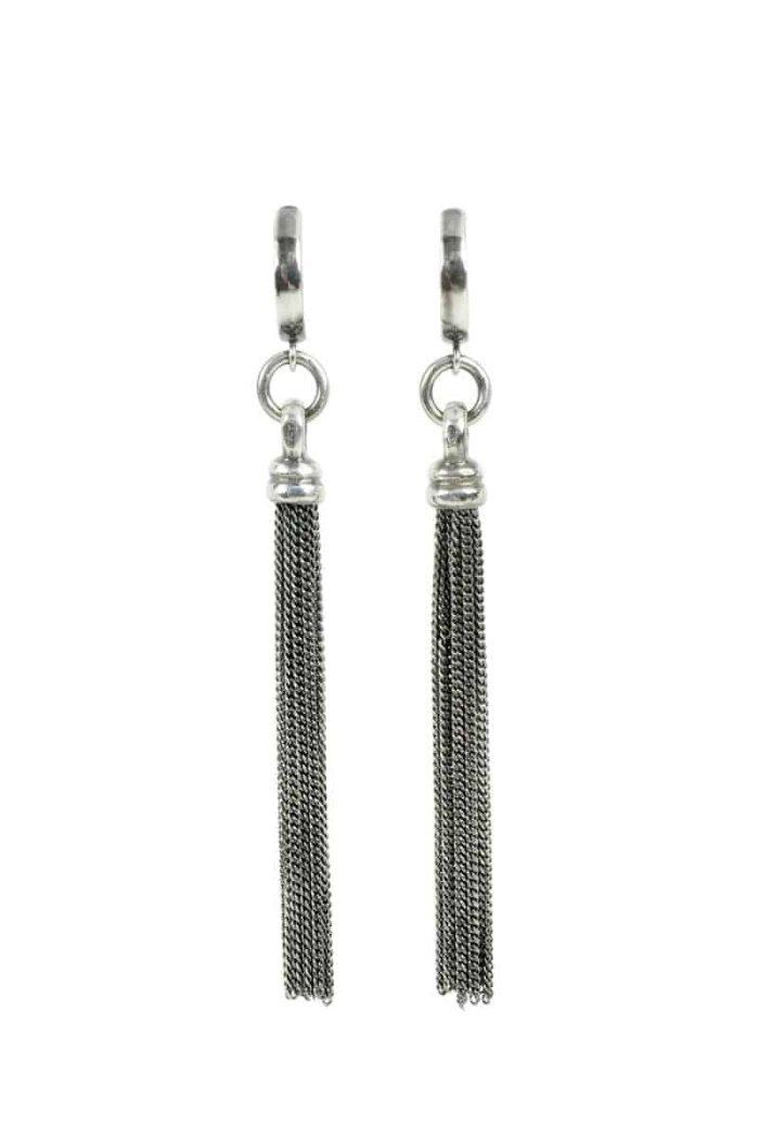 Kary Kjesbo Designs Essential Tassel Earrings - Cable chain #2053E