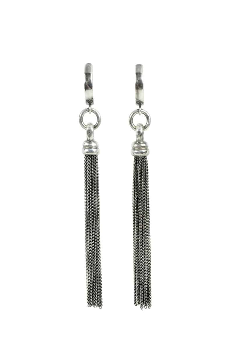 Kary Kjesbo Designs Essential Tassel Earrings - Cable chain #2053E