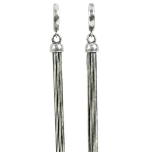 Kary Kjesbo Designs Essential Tassel Earrings - Snake Chain #2052E