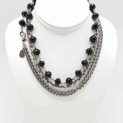 Black Spinel Necklace 11mm