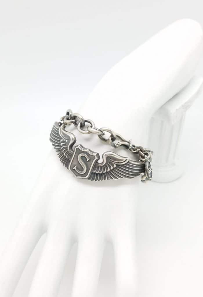 "WWII Service Pilot 3"" wing bracelet"