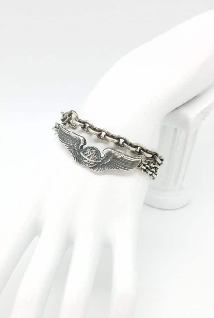 WWII Navigator wing bracelet