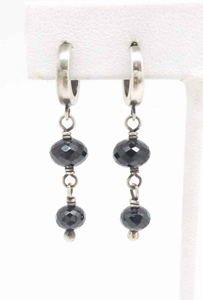 Kary Kjesbo Designs Black Spinel 2 drop 6-8mm
