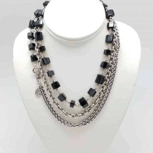 Kary Kjesbo Designs Black Tourmaline necklace (tripled)
