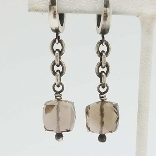 Kary Kjesbo Designs Champagne Quartz 10mm cube w chains