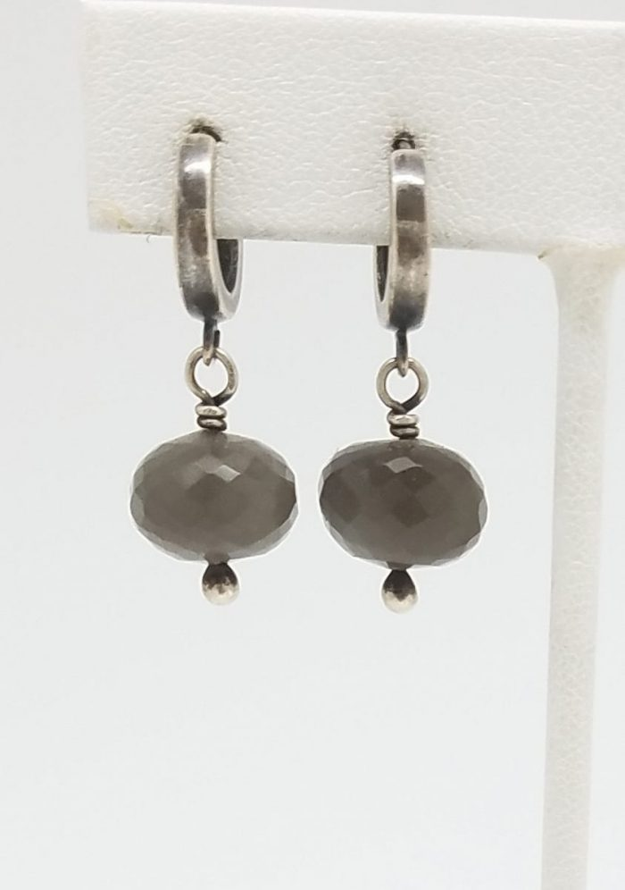 Kary Kjesbo Designs Grey Moonstones 1 drop 11mm