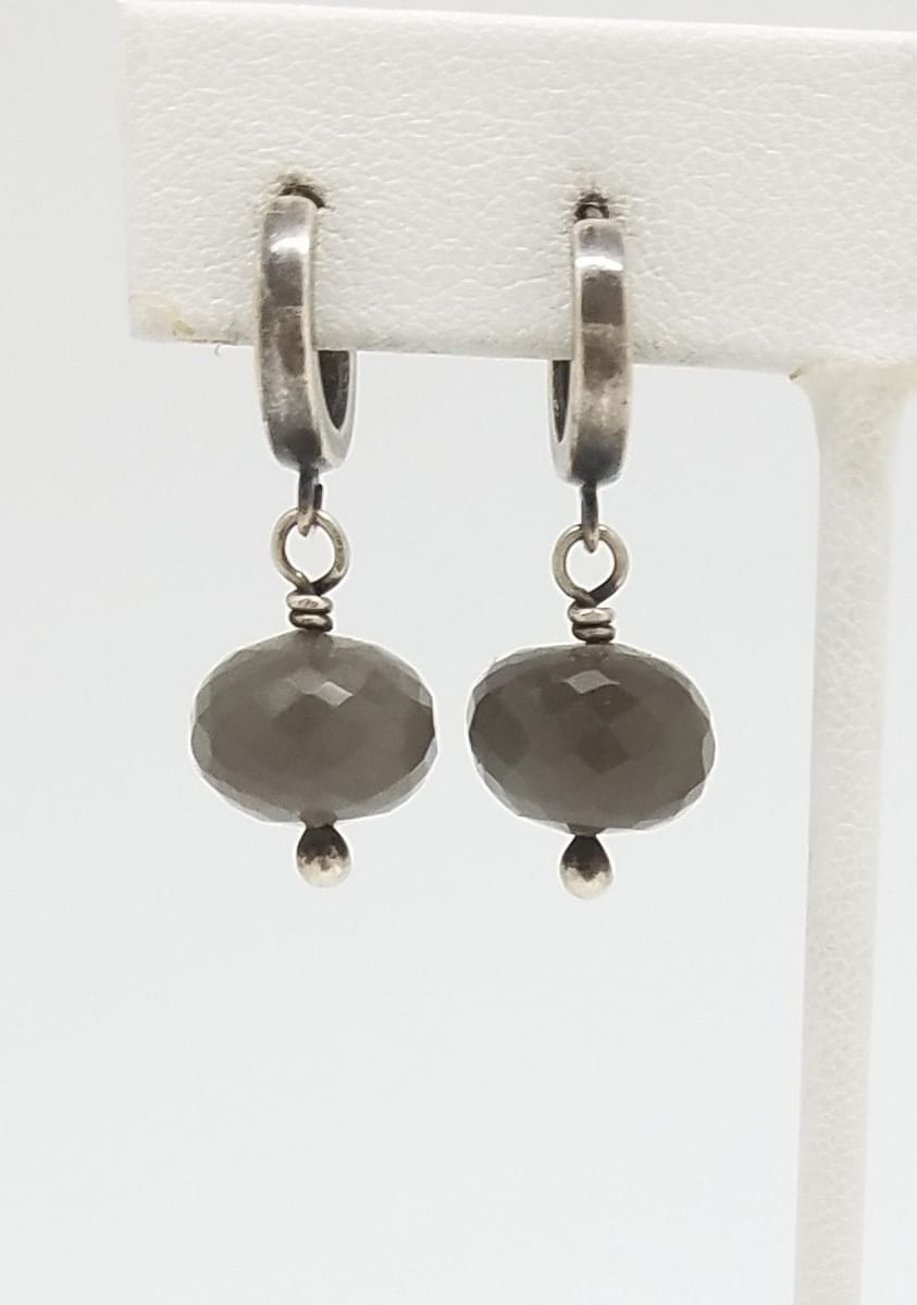 Kary Kjesbo Designs Grey Moonstones 1 drop 11mm