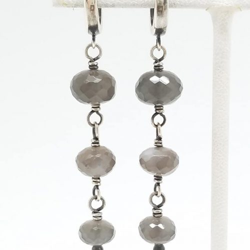 Kary Kjesbo Designs Grey Moonstones 3 drop 10-12mm