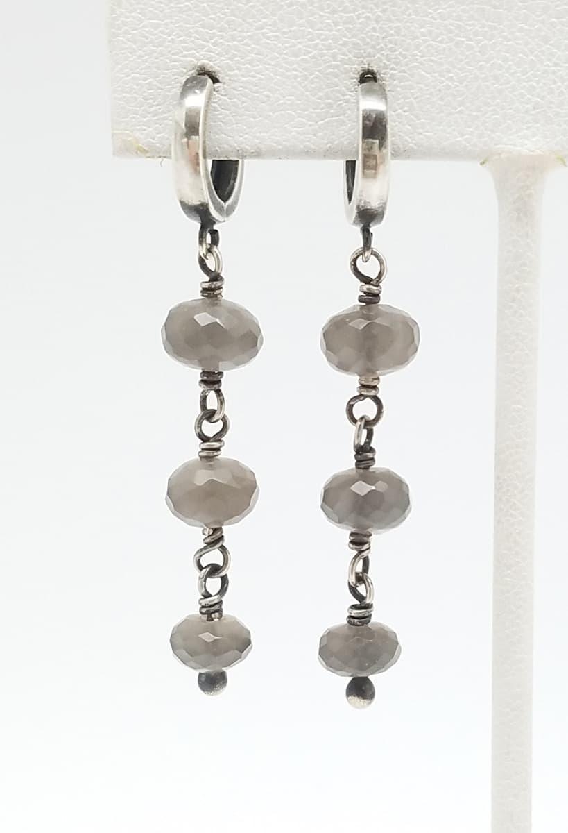 Kary Kjesbo Designs Grey Moonstones 3 drop 7-9mm