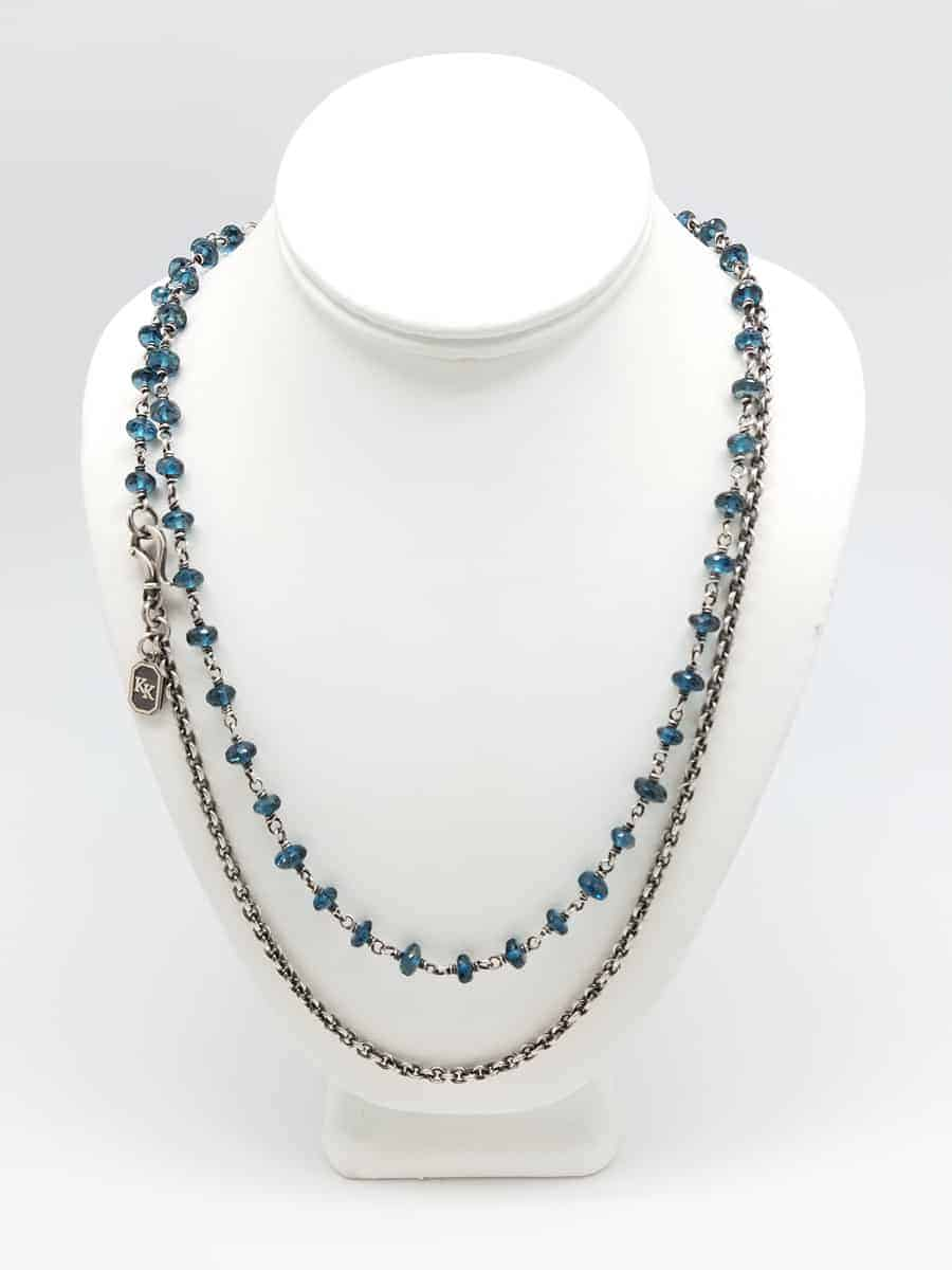 lyons porter blue yg necklace topaz products veve