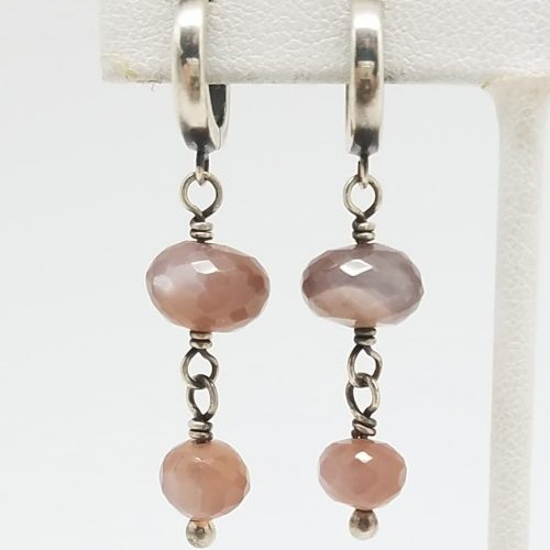 Kary Kjesbo Designs Mauve Moonstones 2 drop 7-10mm