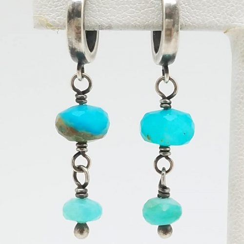 Kary Kjesbo Designs Peruvian Opal Earrings 2 drop 6-8mm