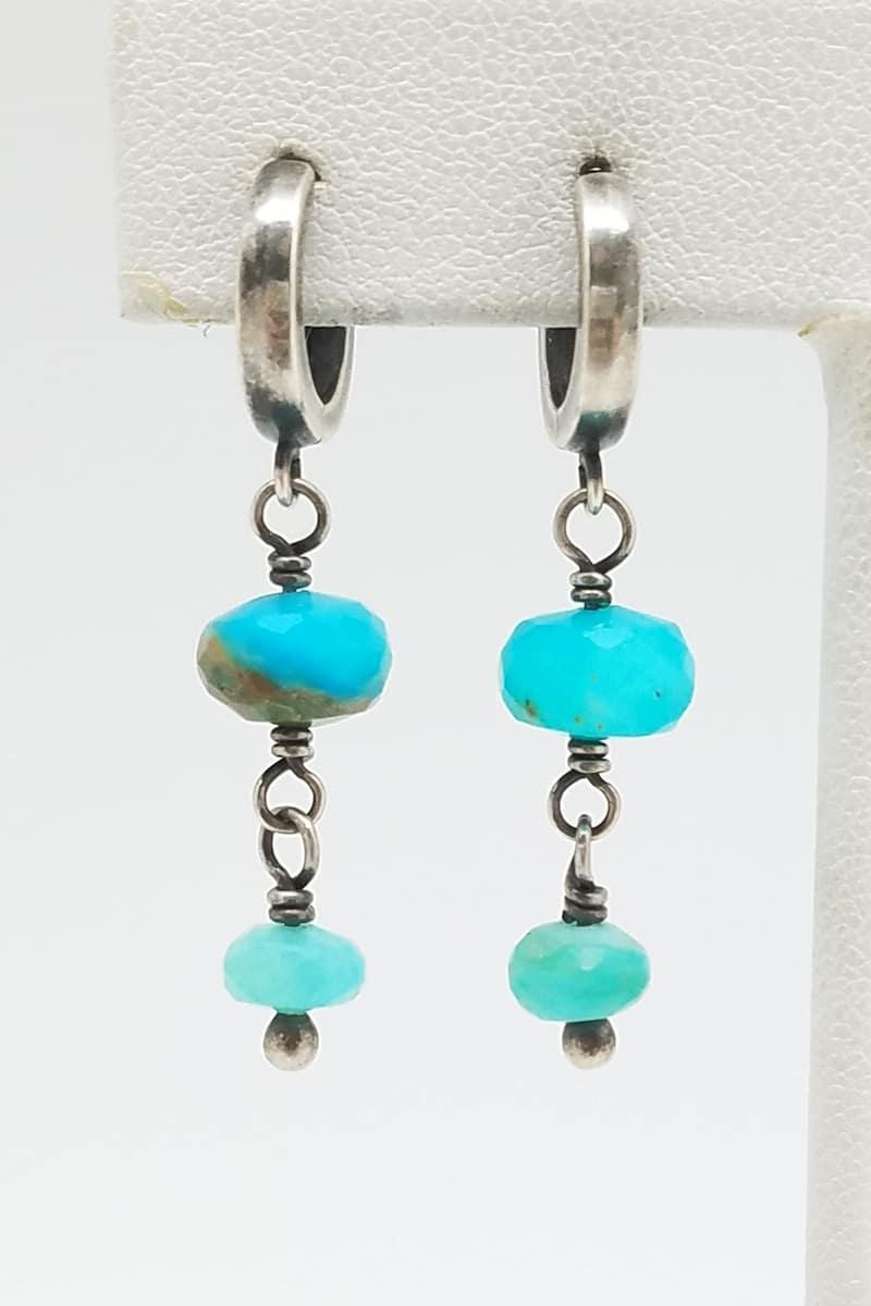 Kary Kjesbo Designs Peruvian Opal Earrings 2 drop 6-8mm