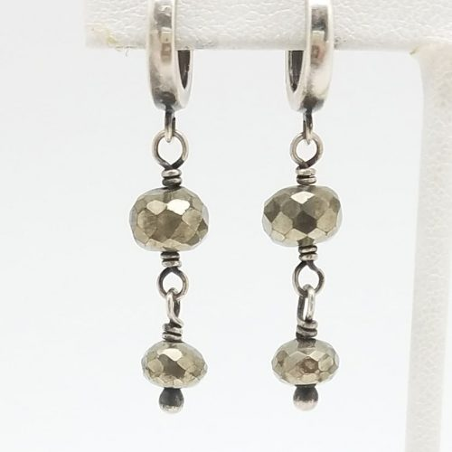 Kary Kjesbo Designs Pyrite earrings 2 drop