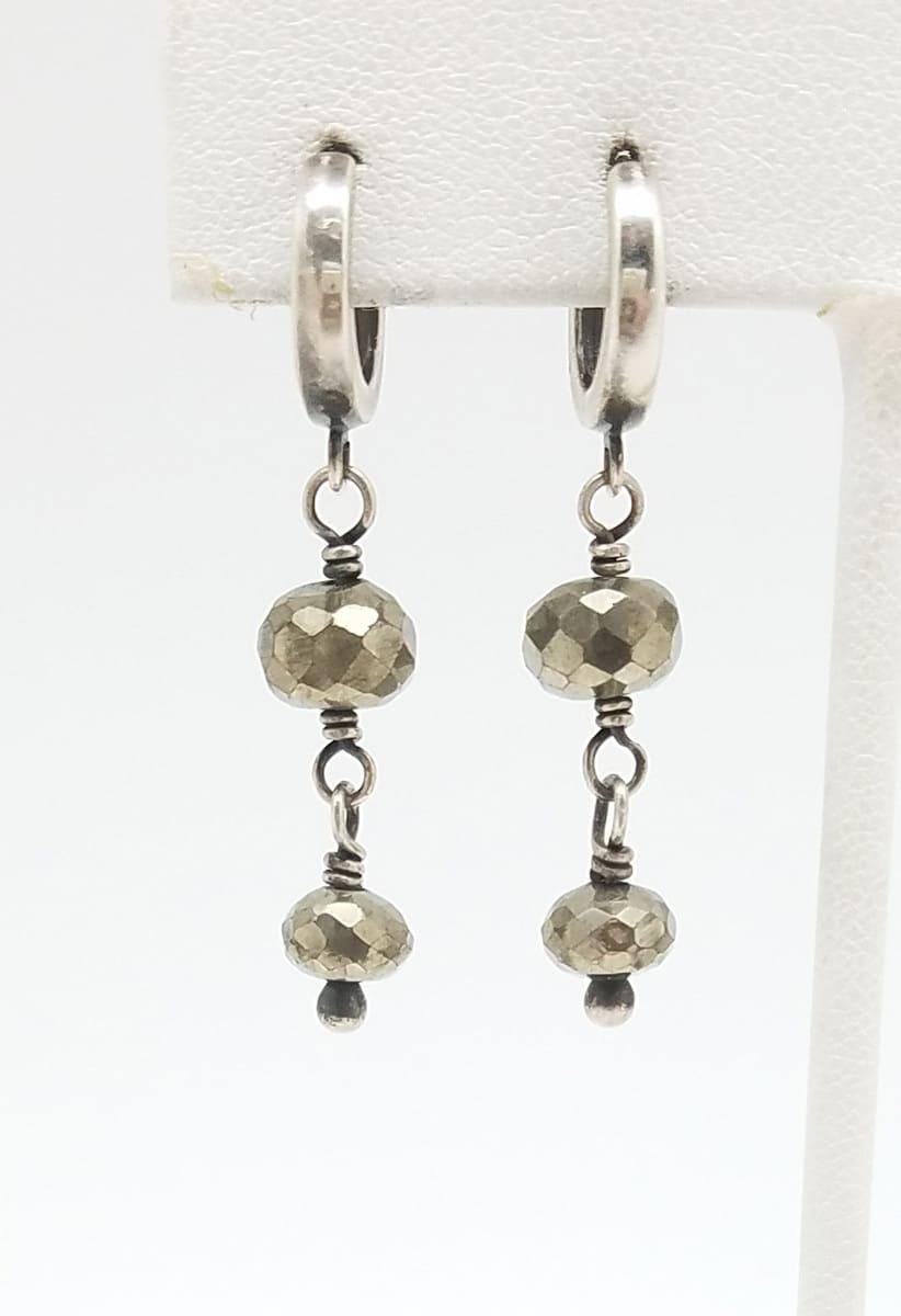 Kary Kjesbo Designs Pyrite earrings 2 drop