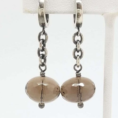 Kary Kjesbo Designs Smoky Quartz earrings 14mm