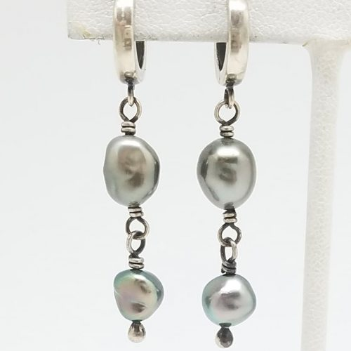 Kary Kjesbo Designs South Sea Keshi pearl earrings 6-8mm