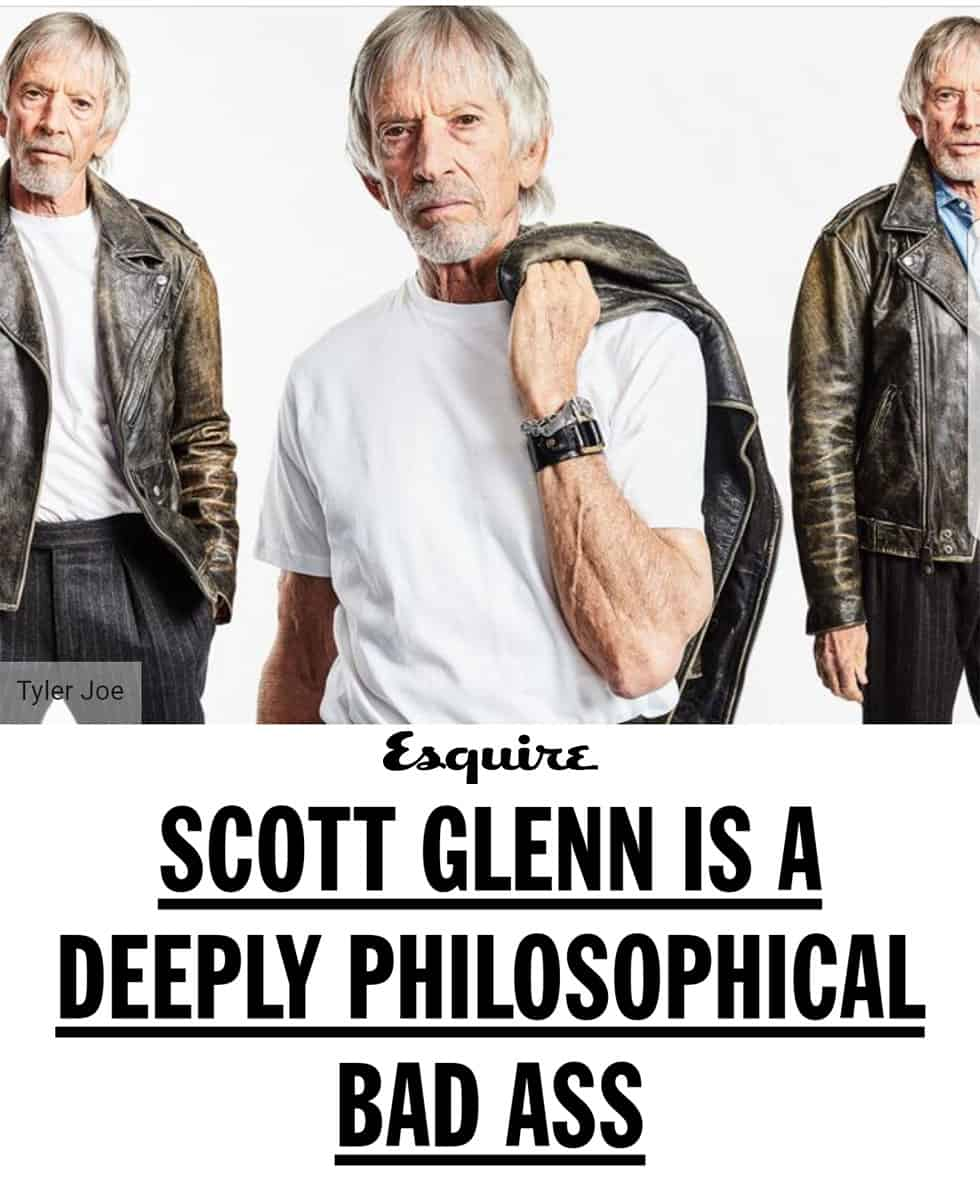 Scott Glenn in Esquire magazine wearing Kary Kjesbo Designs