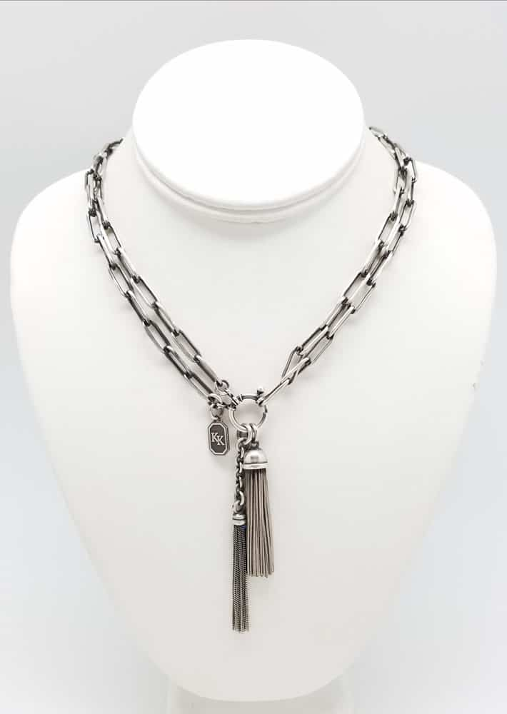 Essential Victorian Style Long Link Chain Necklace Kary