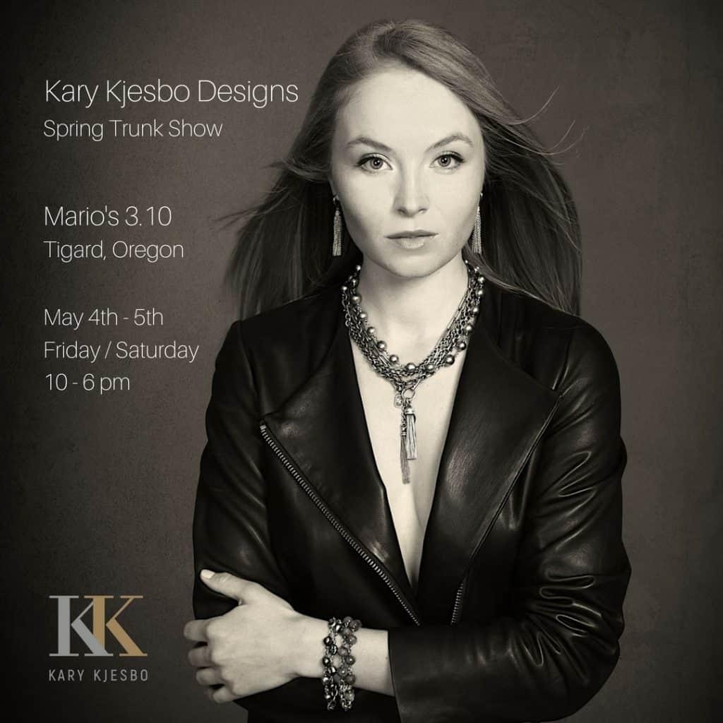 Kary Kjesbo Designs Trunk Show Portland May 2018