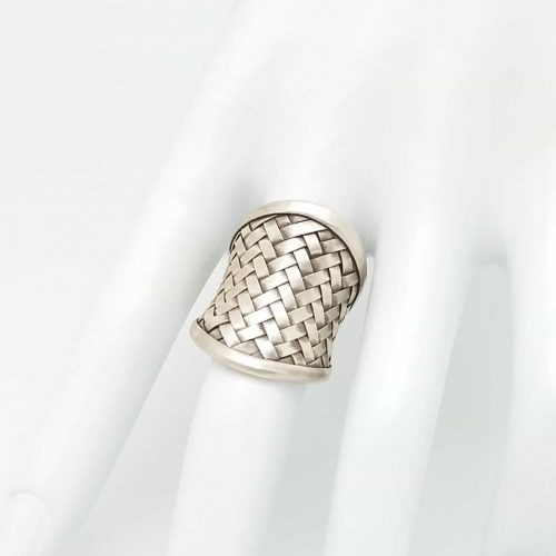 Kary Kjesbo Designs Thai Silver Basket Weave Ring
