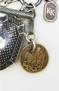 Custom heirlooms antique locket fob chain and bar