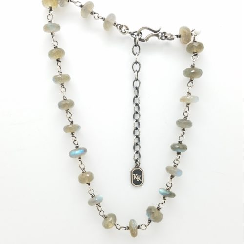 Labradorite Necklace 15-18″ adjustable