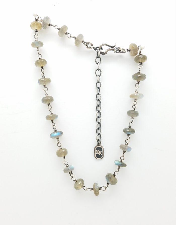 Labradorite Necklace 15-18″ adjustable