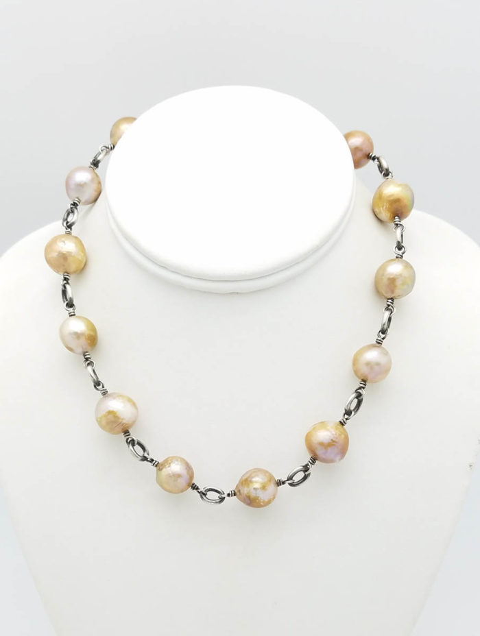 Natural Golden fresh water pearls