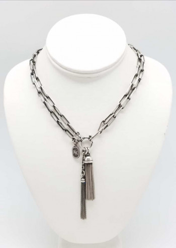 Kary Kjesbo Designs Victorian Style Long chain necklace with Tassels