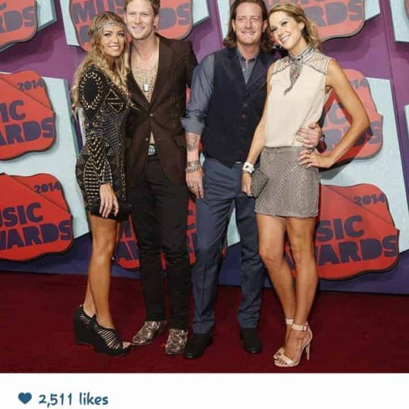 Here is Tyler Hubbard and his gorgeous gal Hayley Stommel both Rockin their KKDesigns, Hayley in her Cream Leather Cuff and Tyler in his WWII Pilot Wing ID Bracelet.